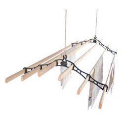 Six Lath Victorian Kitchen Maid® Pulley Clothes Airer